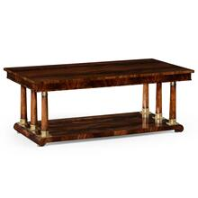 Mahogany biedermeier style rectangular coffee table