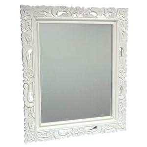 Trade Winds - Floral Carved Mirror - Wht