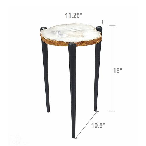 A & B Home - Agate Table,Natural