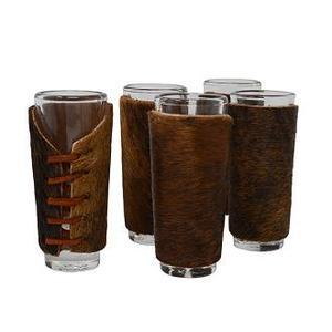 Bandito Display Box W/24 Cowhide Shot Glasses