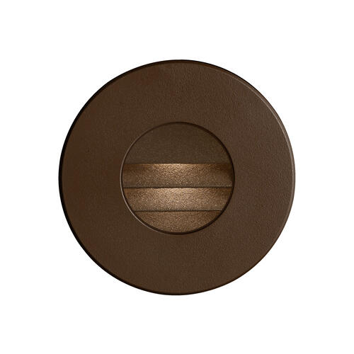 Bronze Round In/outdoor 3w LED Wall Light