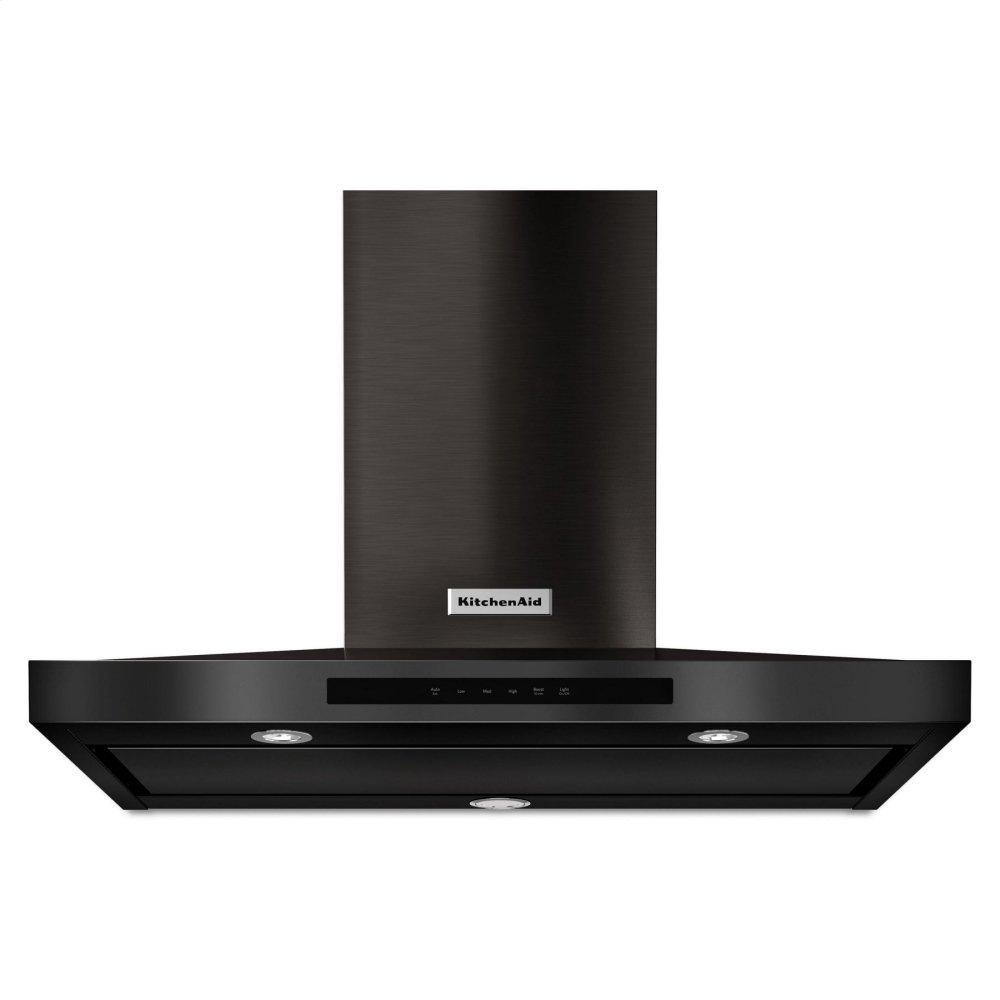 """KitchenAid36"""" Wall-Mount, 3-Speed Canopy Hood - Black Stainless Steel With Printshield™ Finish"""