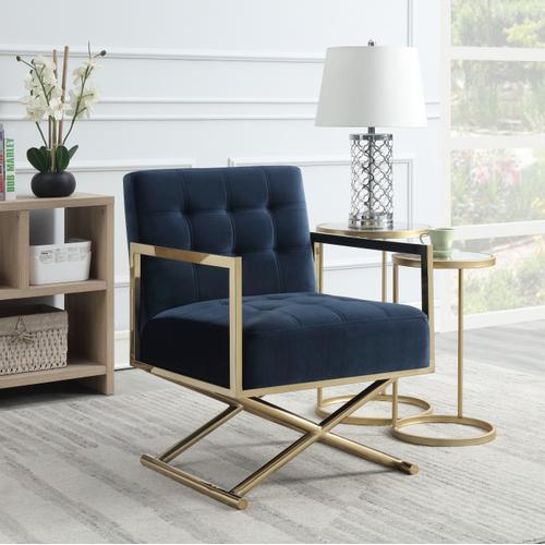 Emerald Home U3806-05-04 Phoenix Accent Chair, Indigo