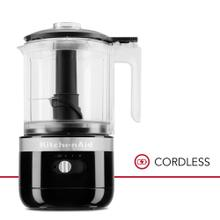 Cordless 5 Cup Food Chopper - Onyx Black