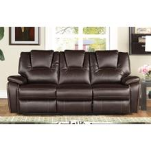 8088 DARK BROWN Power Recliner Air Leather Sofa