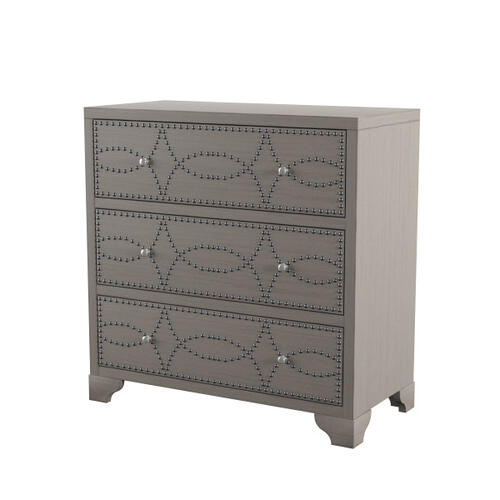 Product Image - Three Drawer Nail Head Acnt Chest