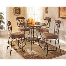 Nola Counter Height Dining Table and Bar Stools (set of 5)