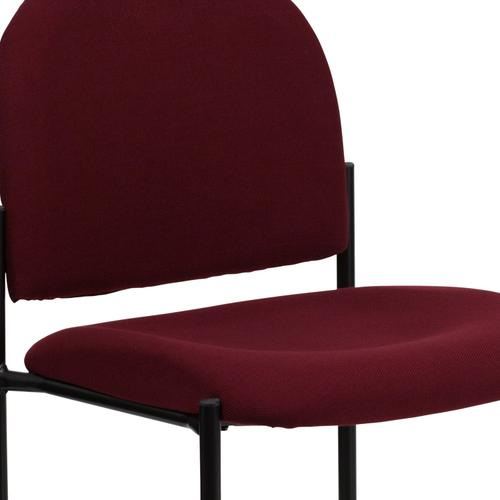 Gallery - Comfort Burgundy Fabric Stackable Steel Side Reception Chair