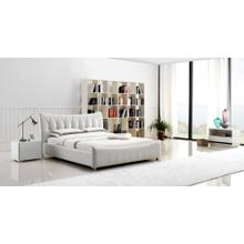 Modrest B1302 Modern Ivory Bonded Leather Bed