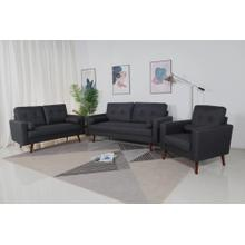 8131 3PC DARK GRAY Linen Stationary Tufted Back Living Room SET