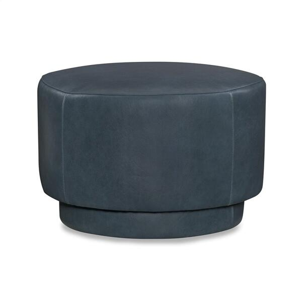 Leather Swivel Ottoman