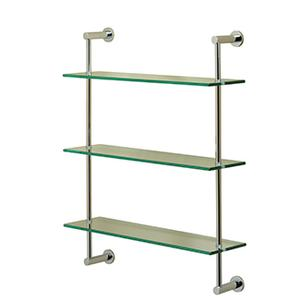Essentials Three Tier Glass Shelf With Porto Backplates Product Image