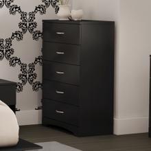 5-Drawer Chest Dresser - Pure Black