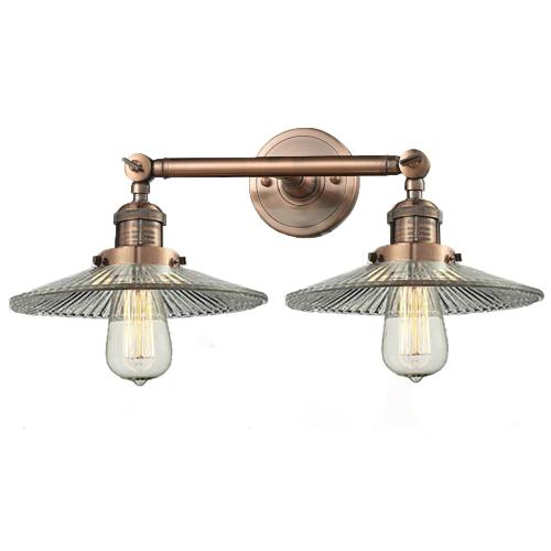 208-AC-G2 - HALOPHANE GLASS 2 LT WALL SCONCE