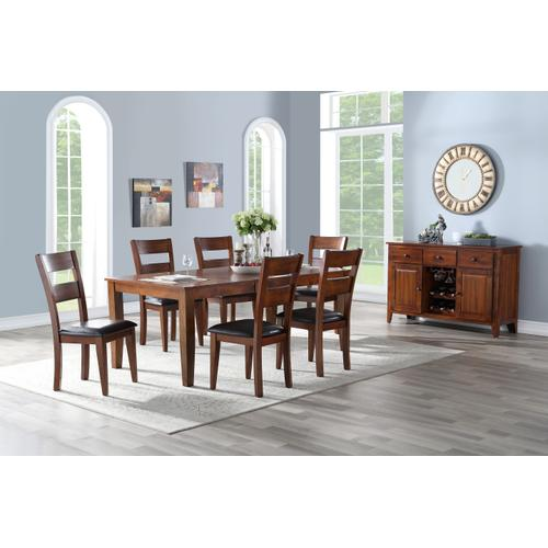 Fairwood 7 Piece Dining Set, Espresso Brown 1289-dining-7pc-k