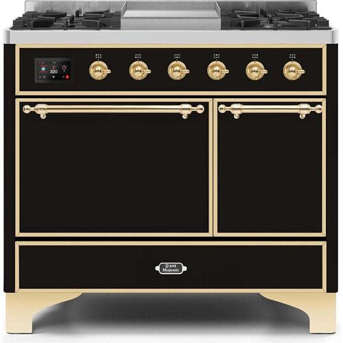 "40"" Inch Glossy Black Natural Gas Freestanding Range"