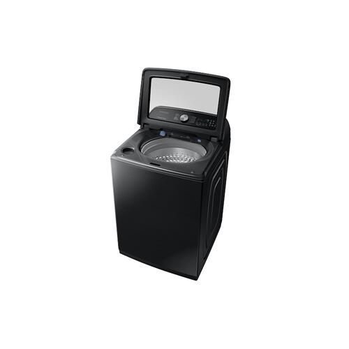 Samsung - WA7200 5.4 cu. ft. Top Load Washer with Active WaterJet in Black Stainless Steel