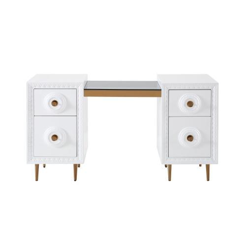 Bovey White Lacquer Desk