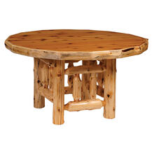 Round Dining Table - 42-inch - Natural Cedar - Armor Finish