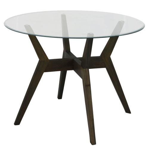 Maldives KD Table Base, Milesi Brown (Glass Top Sold Separately)