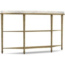 Aura Demilune Console Table w/ Shell Top
