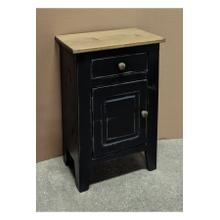 Small Nightstand - Vintage Black w/ Classic Stain Top