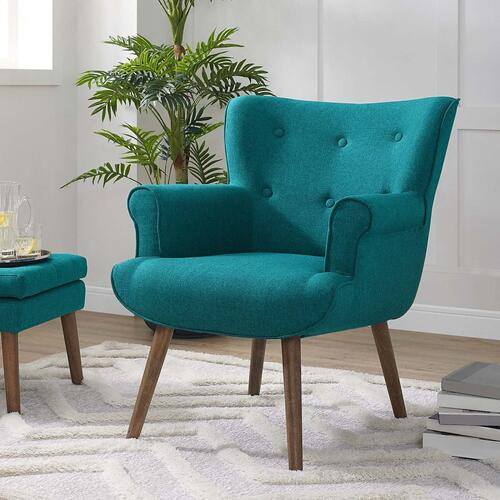 Cloud Upholstered Armchair in Teal