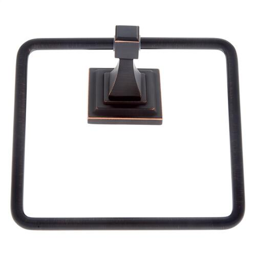 Oil Rubbed Bronze Gradus Square Towel Ring
