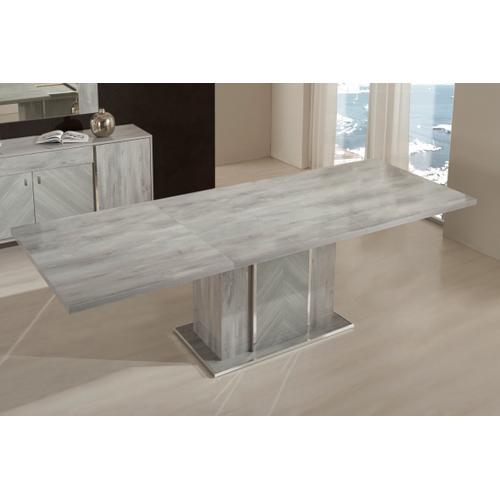 Nova Domus Alexa Italian Modern Grey Extendable Dining Table