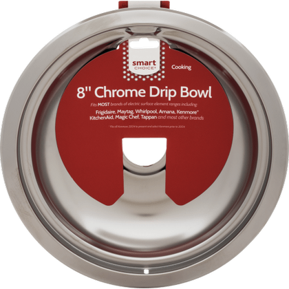 See Details - Smart Choice 8'' Chrome Drip Bowl, Fits Most