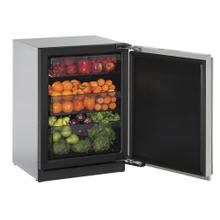 """See Details - 24"""" Solid Door Refrigerator Stainless Solid Right-Hand Hinge"""