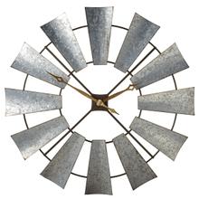 View Product - Galvanized Windmill Wall Clock