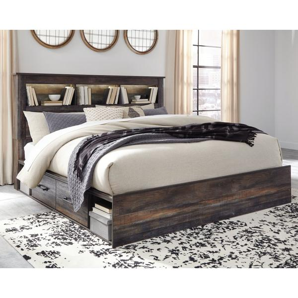 Drystan King Bookcase Bed With 2 Storage Drawers