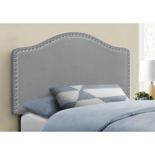 Gallery - BED - TWIN SIZE / GREY LEATHER-LOOK HEADBOARD ONLY