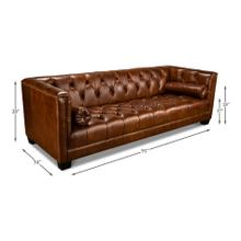 Chamberlain Sofa, Havana Brown Leather