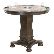 "CR-87711-TCB  Vegas 42"" Round Counter Height Dining, Chess and Poker Table  Reversible 3 in 1 Game Top  Distressed Gray Wood"