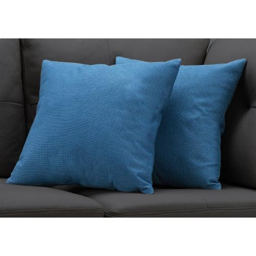"""Gallery - PILLOW - 18""""X 18"""" / PATTERNED BLUE / 2PCS"""