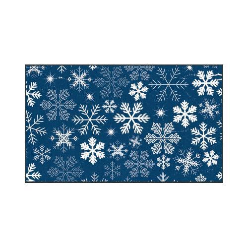 Mohawk - Snowflakes, Blue- Rectangle