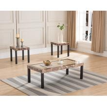 6639 3PC Faux Marble Top Table SET