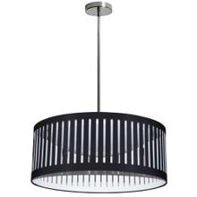 22w Slit Drum LED Pendant, Black Shade