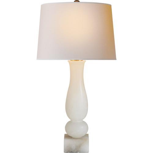 Visual Comfort CHA8646ALB-NP E F Chapman Balustrade 30 inch 150 watt Alabaster Natural Stone Decorative Table Lamp Portable Light