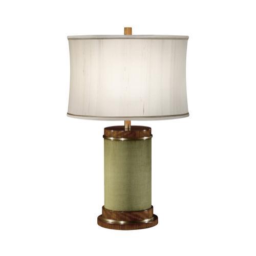 Sage Finish Hyedua Circular Table Lamp