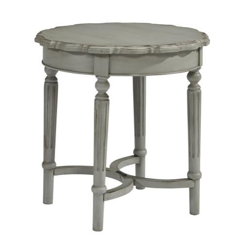 TABLE,SHORT PIE CRUST DOVE GRE