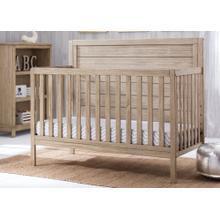 Cambridge 4-in-1 Convertible Baby Crib - Rustic Driftwood (112)