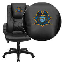 East Tennessee State University Buccaneers Embroidered Black Leather Executive Office Chair