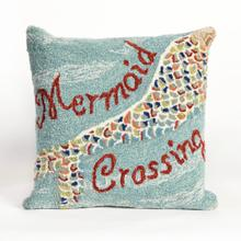 View Product - Liora Manne Frontporch Mermaid Crossing Indoor/Outdoor Pillow Water