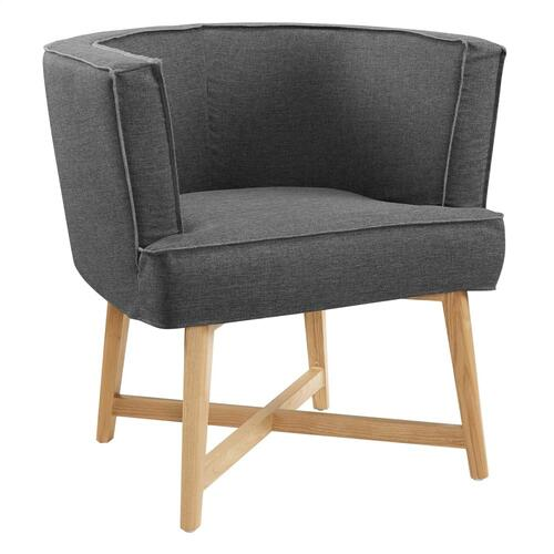 Anders Upholstered Fabric Accent Chair in Gray