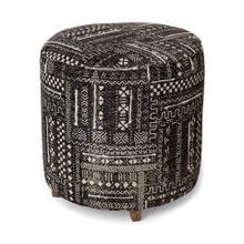 "See Details - Parisa 18.75""H Dhurrie Cotton Cover w/Four Wooden Legs Ottoman"