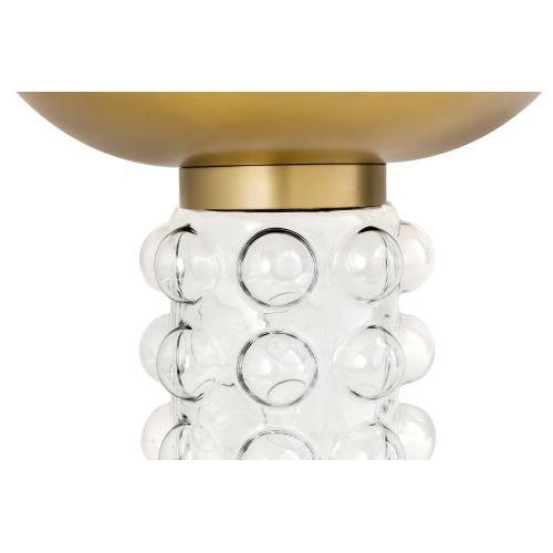 Bubble Glass/Brass Side Table