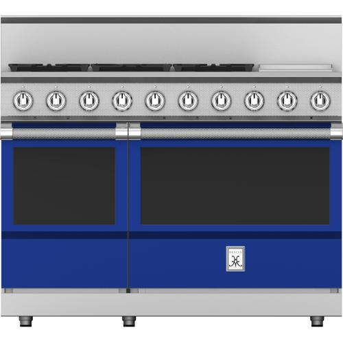 """Hestan - 48"""" 5-Burner All Gas Range with 12"""" Griddle - KRG Series - Prince"""